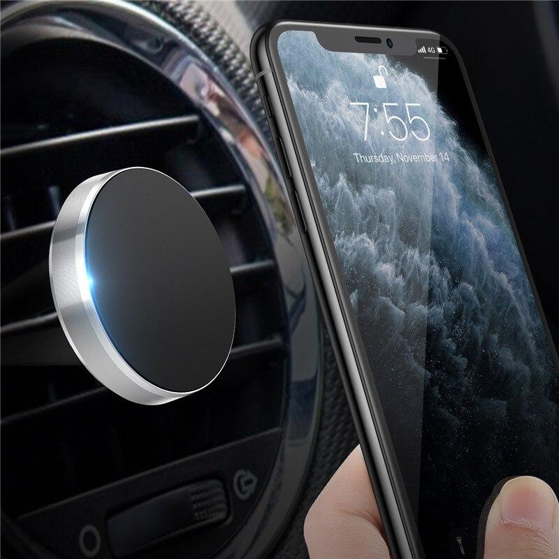 Tkey Magnetic Car Holder For Phone Universal Holder Cell Mobile Phone Holder Stand For Car Air Vent Mount GPS Car Phone Holder