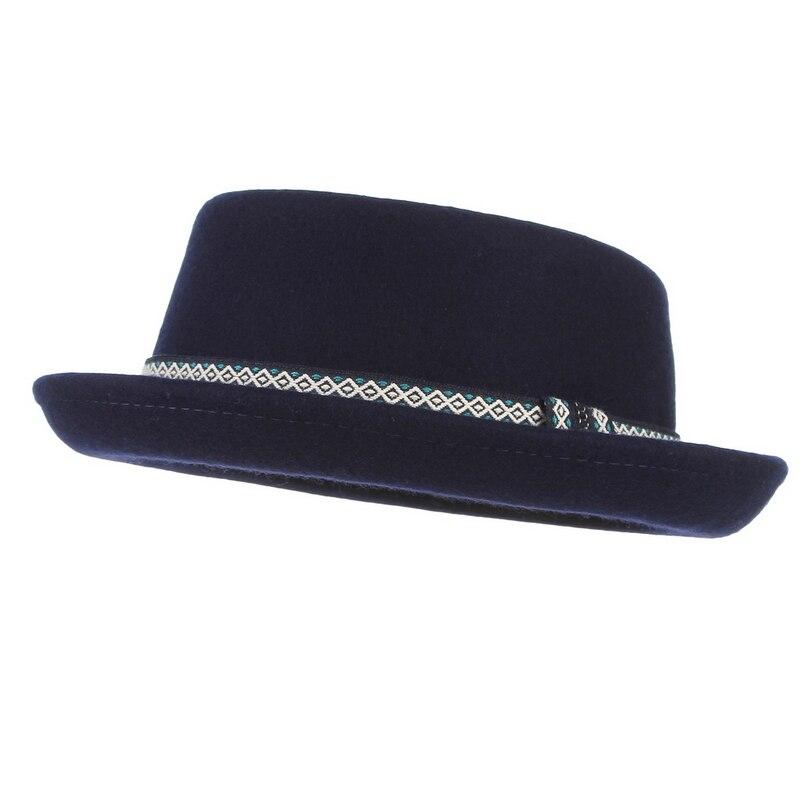 Fedora-Hut mit breiter Krempe Unisex Trilby-Stil weich Pork-Pie f/ür Herren und Damen Hochzeit Gemvie Hut Filz Party