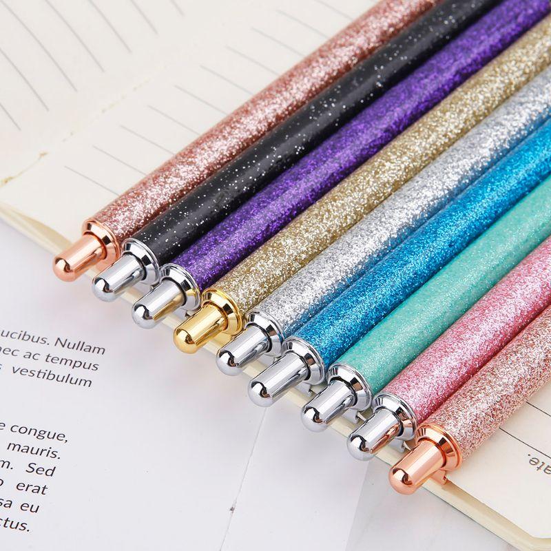 Роскошная металлическая шариковая ручка 1,0 мм, блестящие масляные ручки, офисные принадлежности, школьные канцелярские принадлежности, Пря...