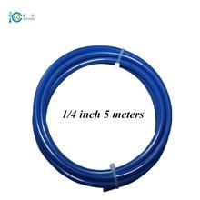Водопроводная труба OD 1/4 дюйма 5 метров пищевой синий PE трубный фильтр NSF утвержден