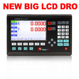 Image 2 - Complete 2 Axis Big LCD Digital Readout  Dro Set Kit and 2 PCS 5U Linear Glass Scale Linear Optical Ruler for Mill Lathe Machine