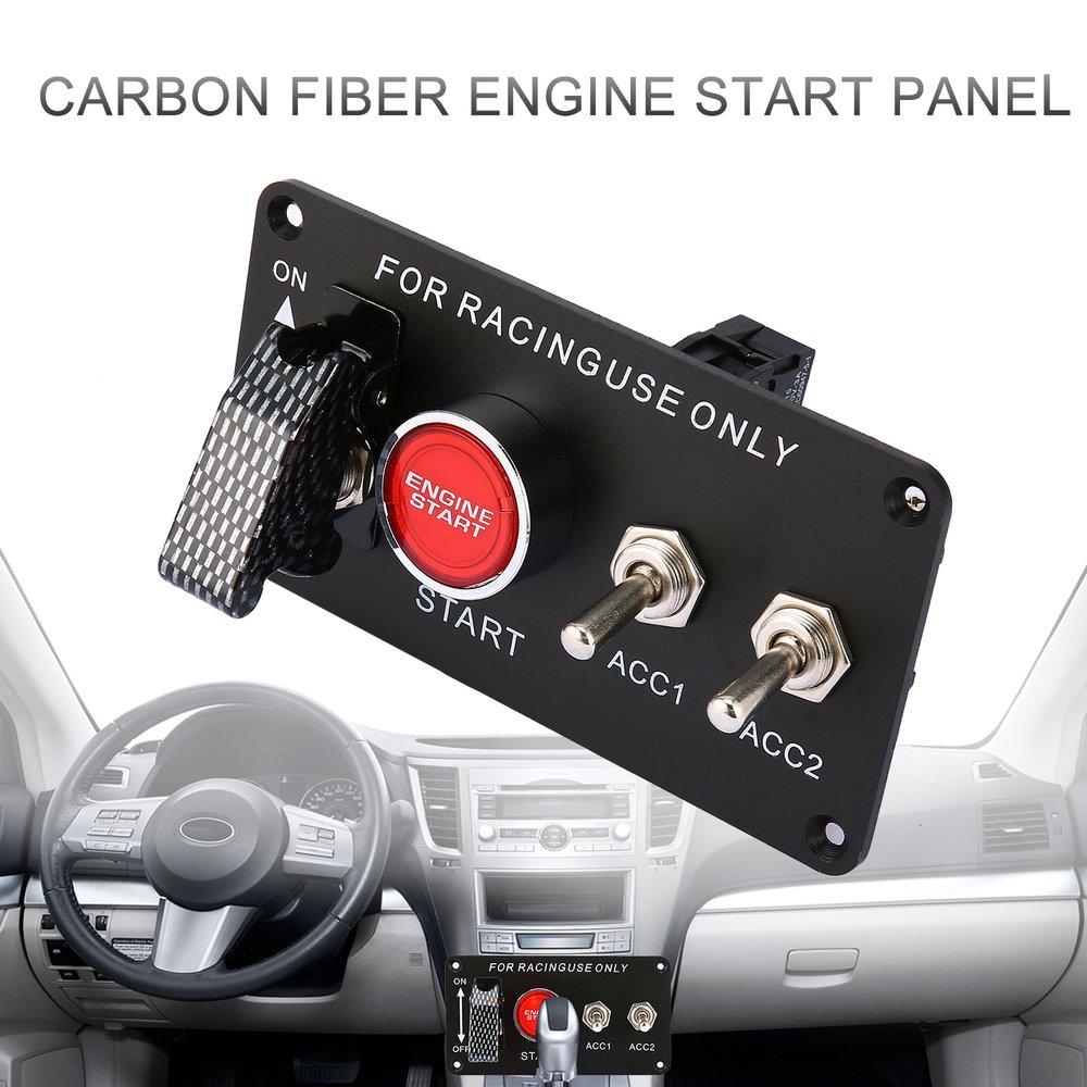 سباق السيارات لوحة مفاتيح اشتعال المحرك بدء بداية دفع زر LED تبديل 12 فولت المهنية التبديل لتعديل السيارة