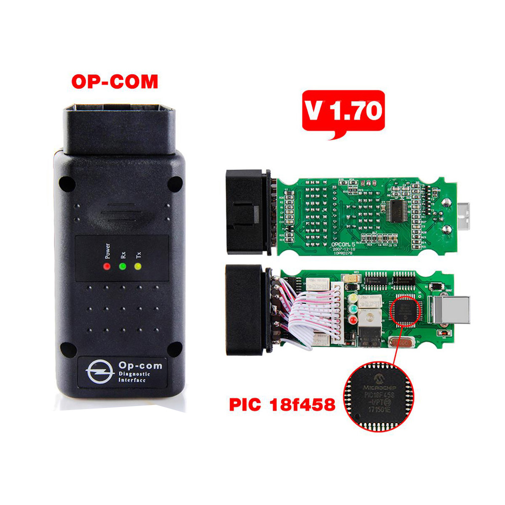 2020 OP COM For Opel V1.70 OBD2 OP-COM Car Diagnostic Scanner Real PIC18f458 OPCOM For Opel Car Diagnostic Tool Flash Firmware