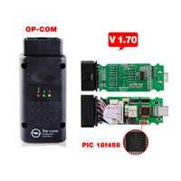 2020 op com para opel v1.70 obd2 OP-COM scanner de diagnóstico do carro real pic18f458 opcom para opel carro ferramenta diagnóstico flash firmware