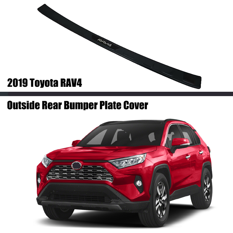 For Toyota RAV4 2019 2020 2021 Car Rearguards Stainless Steel Rear Bumper Trunk Fender Sill Plate Protector Guard Covers Trim