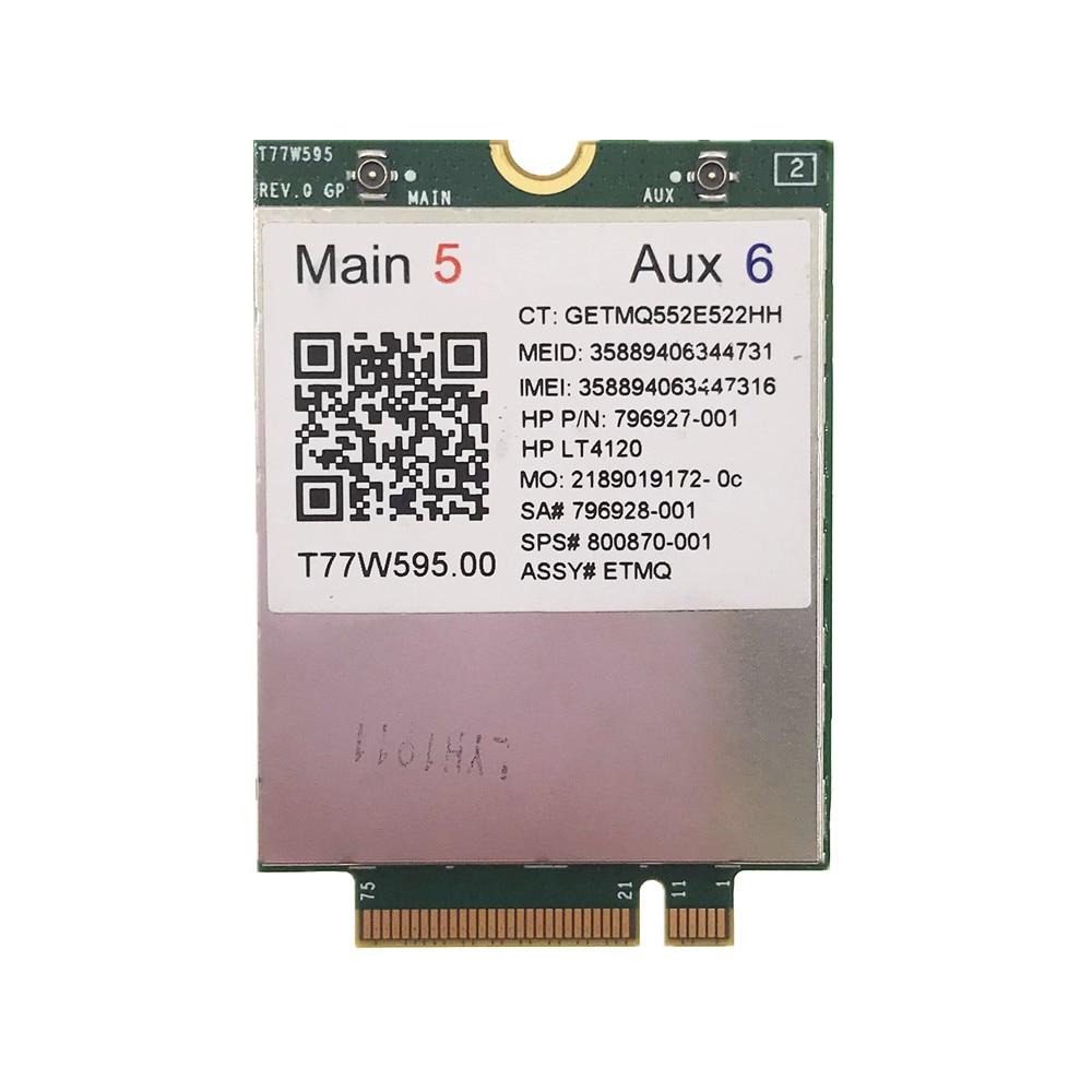 LT4120 Snapdragon X5 LTE T77W595 4G WWAN M2 MODULE For HP Probook/EliteBook 820 840 850 745 G3 Faster Than ME906E