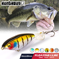 Hunthouse fishing Karashi Rotating tail pencil hard lure 65mm/5.7g 80mm/10.8g floating topwater Whopper Popper wobblers for bass