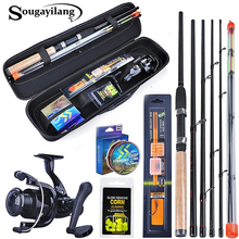 Sougayilang 3 0m Carp Fishing Combo L M H Power Feeder Rod and Carp Reel with With Carp Line Lure Hook Accessories Carrier Bag cheap Spinning Rod+Reel+Line Aluminium Alloy 3 0 m Ocean Boat Fishing Ocean Rock Fshing Ocean Beach Fishing LAKE River Reservoir Pond