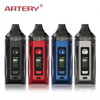 Артерия самородок GT Dual 18650 Pod Mod комплект питание от 8650 батареи и 8 мл Pod и 0,96 дюймовый цветной экран светодиодный свет Vape Kit Vs Vinci X