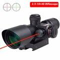 Тактический Оптический Прицел 2 5-10X40 красный и зеленый с подсветкой правый прицел для 11 мм или 20 мм рельсовый охотничий ружейный прицел