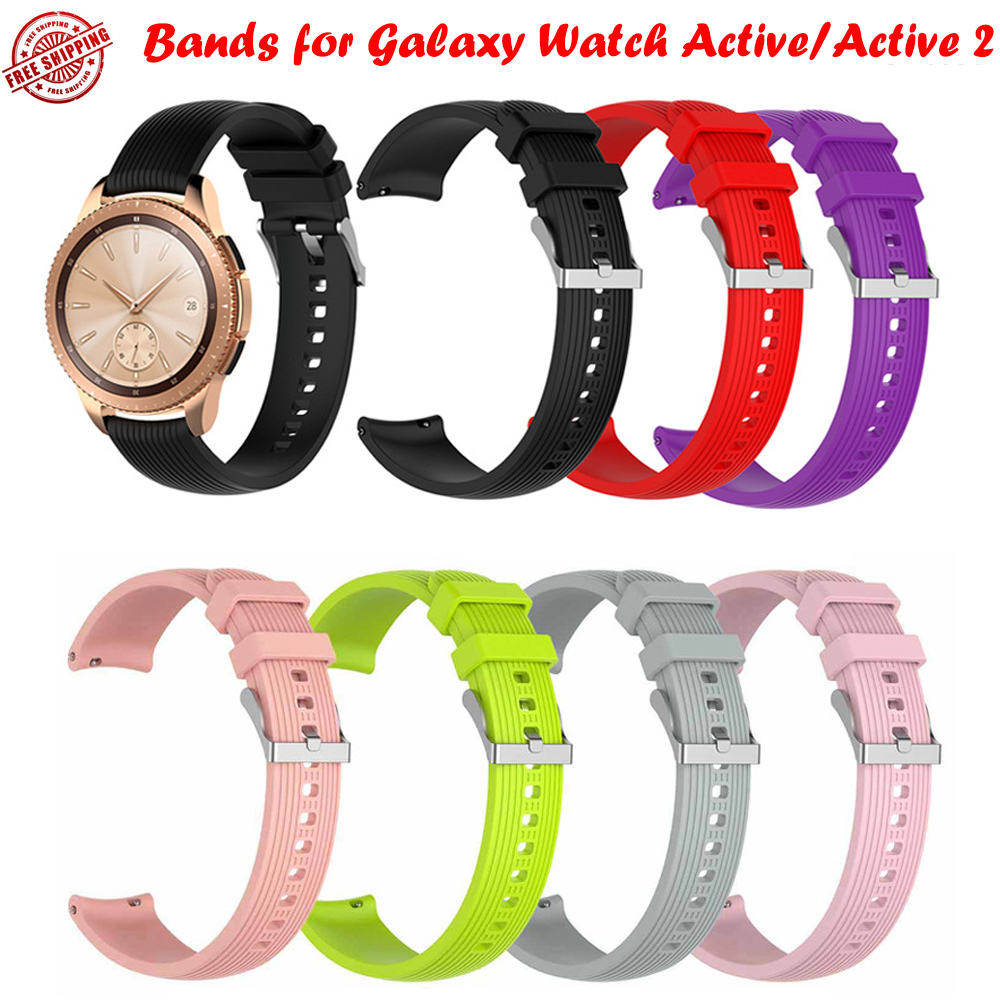 20mm Rubber Silicone Sport Replacement Band For Samsung Galaxy Watch active/active 2
