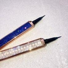 New Arrivals Eyeliner Shining Diamond Shape Lasting Waterproof Liquid Eyeliner Pen False Eyelashes