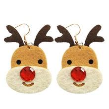 2019 Direct Selling New Tin Alloy Cartoon Earings Brinco European And American Christmas Jewelry Cute Coffee Elk Earrings