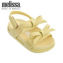 Mini melissa meninas arco geléia sapatos cósmica sandália + princesa menino sandálias 2020 bebê sapatos melissa sandálias crianças antiderrapante da criança