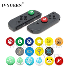 IVYUEEN 2 pcs for Nintendo Switch Lite Mini Joy Con Joy Con Animal Crossing Joystick Thumb Grip Cover Case Analog Stick Caps