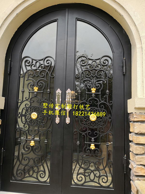 Shanghai Hench Brand China Factory 100% Custom Made Sale Australia Wrought Iron Wine Cellar Doors