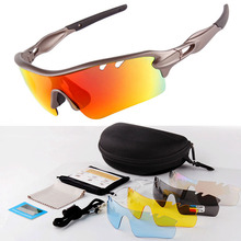 купить Men Women Cycling Sun Glasses Polarized Outdoor Sport Bike MTB Bicycle Goggles HD Sunglasses Eyewear Gafas de ciclismo 5 Lens дешево