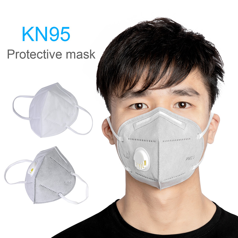 KN95 Like Kf94 FPP2 Folding Valved Dust Mask PM2.5 Anti Formaldehyde Bad Smell Bacteria Proof Face Mouth Mask Safe Breathable