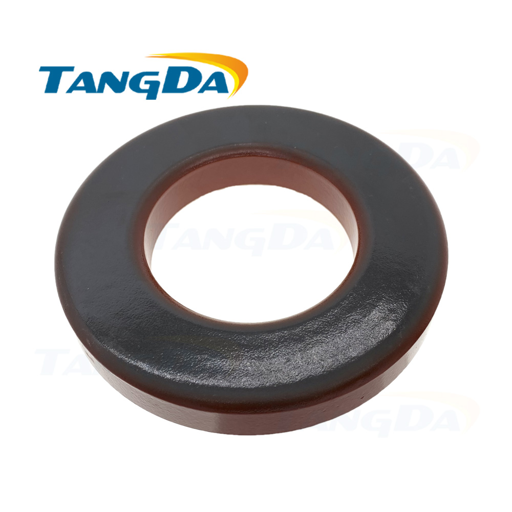 Tangda Iron powder cores T400-2 OD*ID*HT 102*57*17 mm 18nH/N2 10uo Iron dust core Ferrite Toroid Core Coating T400 2 Red gray A(China)