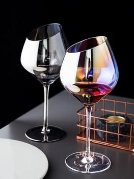 Rainbow Lon Plated Wine Glasses 2