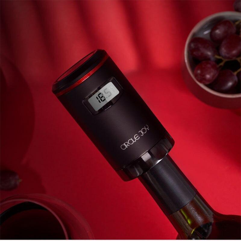Xiaomi Mijia cercle joie automatique vide conservation du vin bouchon vin rouge frais gardien USB charge avec affichage de LED - 6