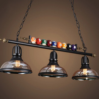 Nordic Industrial Pendant Lights Restaurant Bar Cafe Hanging Lamp Creative Glass Pool Table Pendant Lamp Decorate WJ122130