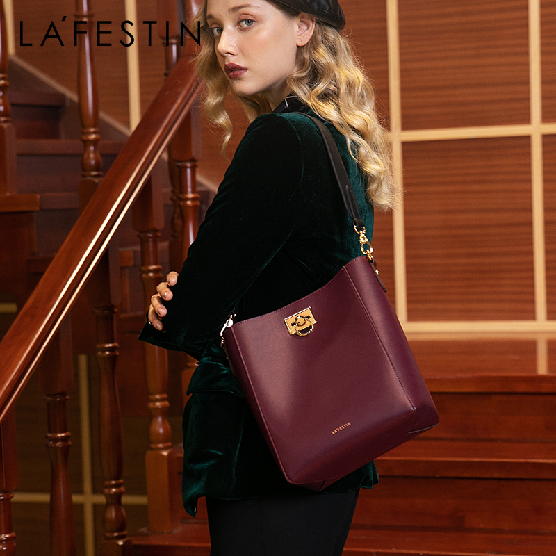 LAFESTIN 2019 new women bag fashion large capacity bucket bag luxury shoulder bags temperament noble Messenger bag