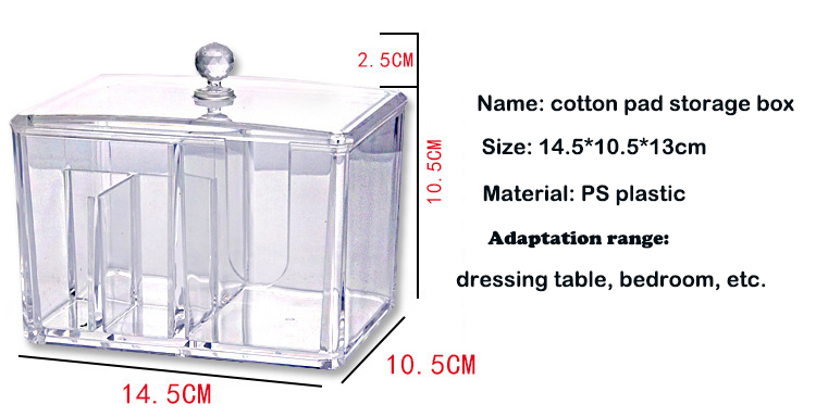 Cotton pad plastic storage box (8)