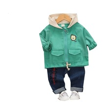 Spring Autumn Children Kids Clothes Baby Boys Girls Cartoon Hooded Coat Letter Pants Toddler Fashion Clothing Infant Tracksuits children girls clothes kids baseball infant sweatershirt toddler fashion brand jacket new spring autumn baby outwear boys coat