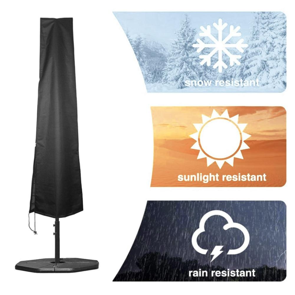 Housse de Protection anti-poussière pour Parasol, imperméable, Protection UV, pour Patio, jardin, Restaurant, Cantilever, tissu Oxford, Protection contre la pluie