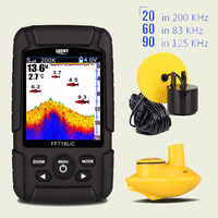 GLÜCK Tragbare Fisch Finder Monitor 2 in 1 200 KHz/83 KHz Dual Sonar Frequenz 328ft/100m erkennung Tiefe echo sound FF718LiCD