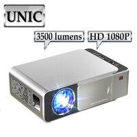 UNIC T6 Full 1080P проектор 3500 люмен Домашний кинотеатр кинопроектор HD LED проектор видео HDMI Портативный кинотеатр