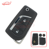 Kigoauto  for Toyota Corolla key 89070-12A20 Flip remote key G H chip 2 button 314.4Mhz ASK TOY48 2012 2013 2014 2015 2016 2017