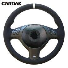 CARDAK Hand Sewing Car Steering Wheel Cover For BMW E46 M3 E39 330i 540i 525i 53