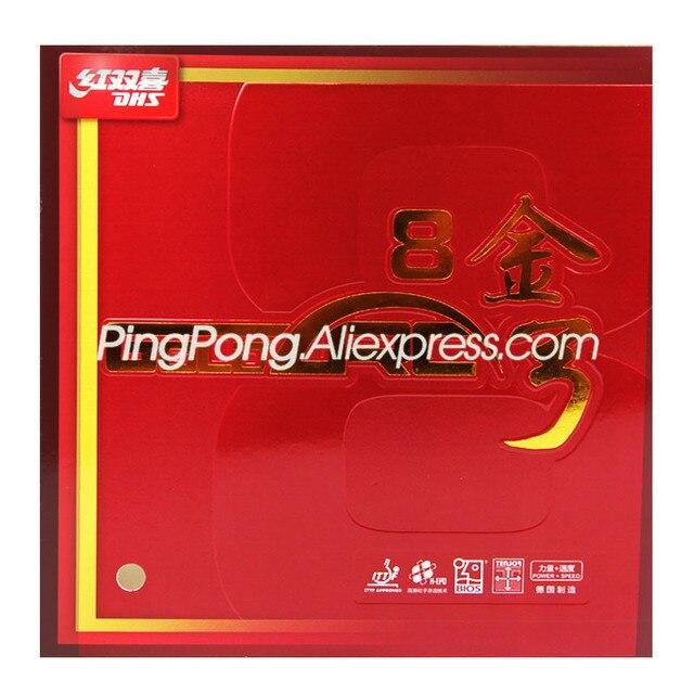 Dhs goldarc 8/ga8 tênis de mesa borracha (feito na alemanha) dhs GoldArc 8/arco do ouro 8 original dhs ping pong esponja