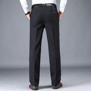 Image 2 - NIGRITY 2019 סתיו חורף גברים של חליפת מכנסיים ישר מכנסיים באיכות גבוהה אופנה גברים קלאסי עסקי שמלת צפצף 3 צבעים