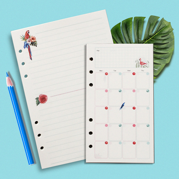 A5 A6 A7 Loose Leaf Notebook Paper Inner Page Refill Spiral Planner Dairy Weekly Monthly Plan muji Style To do dotted grid blank style page 3