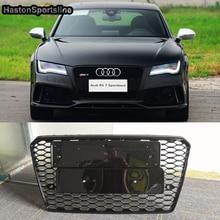 Für Audi A7 Geändert RS7 Stil Front Honeycomb Grille Grill Auto Styling 2012 2013 2014 2015