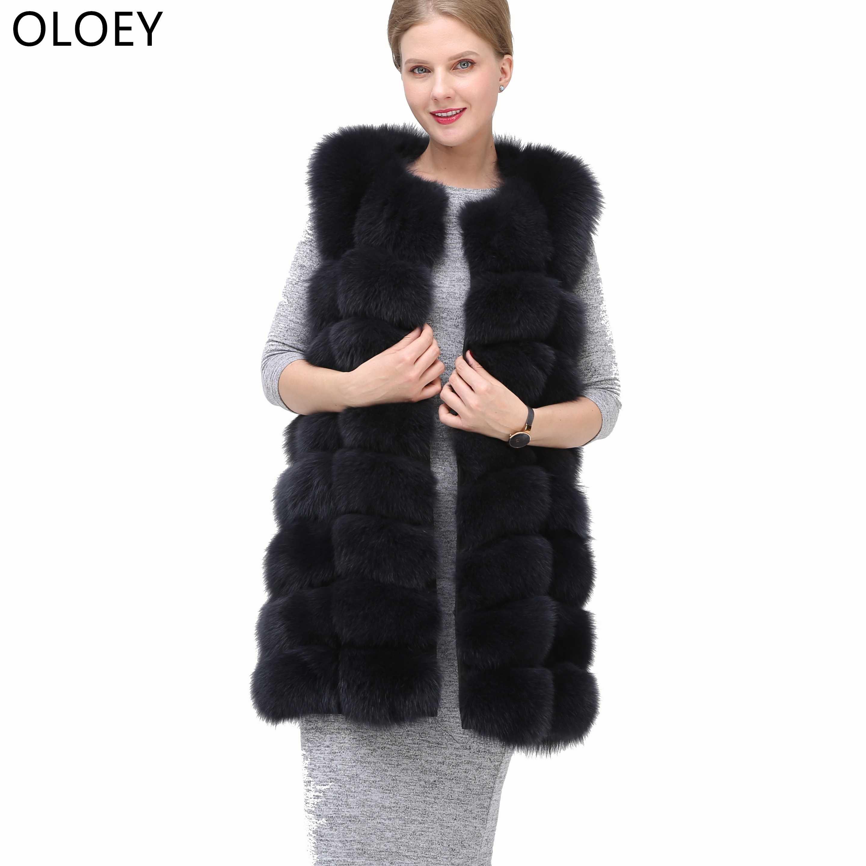 2019 Neue Echt Fuchs Pelz Weste Jacke Natürlichen Fuchs Pelzmantel Hohe Qualität Winter Mode Warm Ärmel Jacke Für Frauen