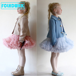 Tutu Skirt for Girls Ballet Skirts For Party Dance Princess Girl Tulle clothes Ballerina Fluffy skirts autumn winter Baby Girls(China)