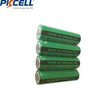 4 шт pkcell aa аккумуляторные батареи ni mh 2000mah 12 v nimh