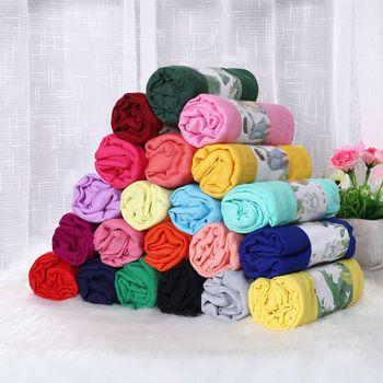 20 kolorów szalik od projektanta bawełny damski hidżab Pashmina szale w jednolitym kolorze i okłady głowy szaliki dla pań szale szale tanie i dobre opinie QIYUEMAKE WOMEN Dla dorosłych COTTON Linen CN (pochodzenie) Szalik szal Stałe Moda 175 cm Scarf Women