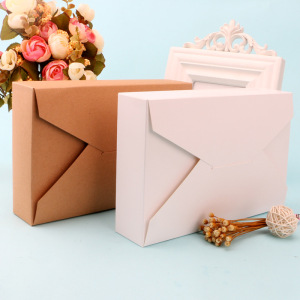 Image 3 - Brown & White Envelope Box Gift Box Packaging for Sweets Candies Paper Box for Cookie Presents Carton Caixa