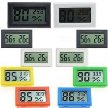 Termômetro higrômetro mini interno eletrônico embutido digital thermo-higrômetro sonda geladeira termômetros não incluído bateria