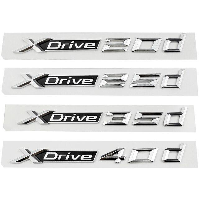 سيارة التصميم ثلاثية الأبعاد ملصق السيارات الجذع الخلفي شعار ملصق مائي لسيارات BMW X1 X2 X3 X4 X5 X6 Z3 M5 M6 Xdrive 20d 25d 35d X Drive 40d GT