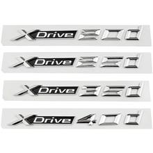 Car Styling 3D Sticker Auto Trunk Rear Emblem Decal Badge for BMW X1 X2 X3 X4 X5 X6 Z3 M5 M6 Xdrive 20d 25d 35d X Drive 40d GT