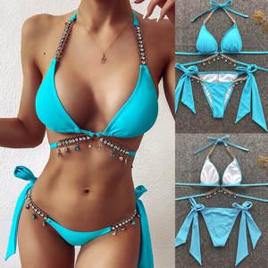 Women Swimwear Beachwear Push up Two piece Bikini Swimsuit Bathing Suit