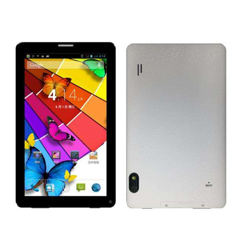 7-inch 2G Phone Call White Tablet  AllWinner A33 Quad Core Android 4.4  512MB/4GB  1024x 600 A33 86V  Tablet PC