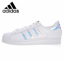 Original Authentic Adidas Superstar Women Skateboarding Shoes Shell Head Men Sneakers Fashion Lightweight Comfortable AQ6278