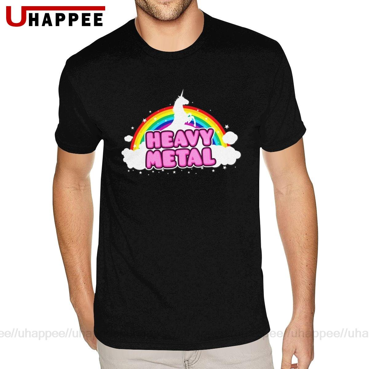 Tees Shirt Unicorn Short-Sleeves Heavy Metal Plus-Size Mens Ultra-Cotton O-Neck Wholesale